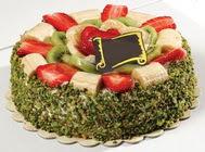 pasta gönder  4 ile 6 kisilik karisik meyvali yas pasta  Adana internetten çiçek siparişi