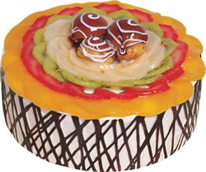 pasta siparisi 4 ile 6 kisilik meyvali yas pasta  Adana çiçek satışı