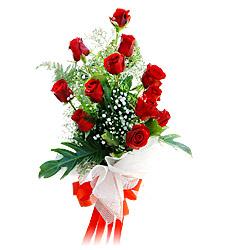11 adet kirmizi güllerden görsel sölen buket  Adana çiçek siparişi vermek