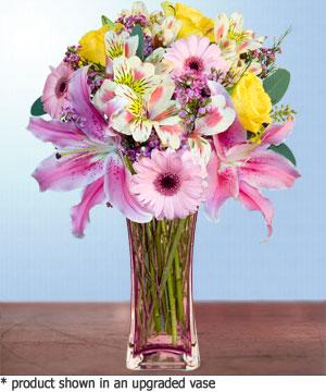 Anneme hediye karisik cam mevsim demeti  Adana internetten çiçek siparişi