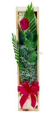 1 adet kutuda kirmizi gül  Adana çiçek gönderme sitemiz güvenlidir
