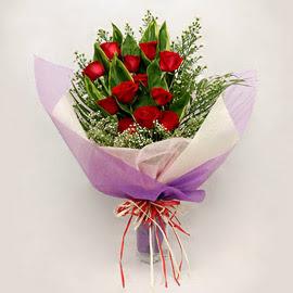 çiçekçi dükkanindan 11 adet gül buket  Adana çiçekçi mağazası