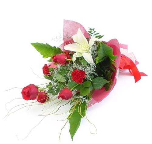 Mevsim çiçeklerinden karisik buket  Adana cicek , cicekci