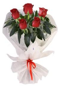 5 adet kirmizi gül buketi  Adana çiçekçiler