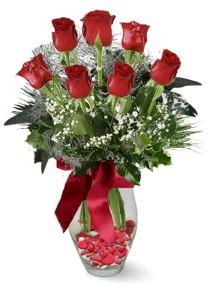 7 adet vazoda gül  Adana internetten çiçek satışı  kirmizi gül