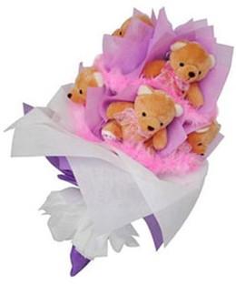 9 adet ayiciktan buket  Adana hediye sevgilime hediye çiçek
