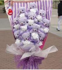 11 adet pelus ayicik buketi  Adana çiçek gönderme sitemiz güvenlidir