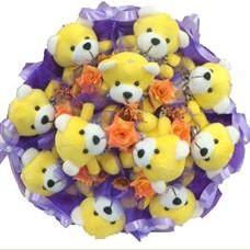 11 adet pelus ayicik buketi  Adana çiçek mağazası , çiçekçi adresleri
