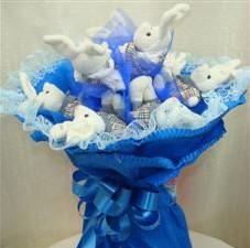 7 adet pelus ayicik buketi  Adana çiçek , çiçekçi , çiçekçilik