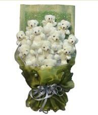 11 adet pelus ayicik buketi  Adana online çiçek gönderme sipariş