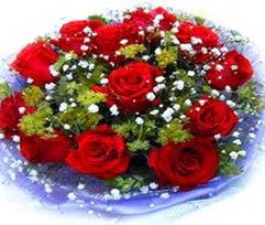 9 adet kirmizi güllerden buket  Adana çiçekçi telefonları