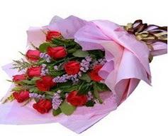 11 adet kirmizi güllerden görsel buket  Adana çiçek gönderme sitemiz güvenlidir