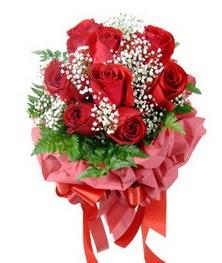 9 adet en kaliteli gülden kirmizi buket  Adana çiçek servisi , çiçekçi adresleri