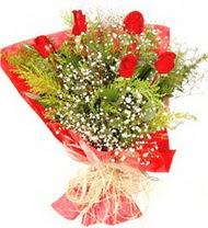 Adana anneler günü çiçek yolla  5 adet kirmizi gül buketi demeti
