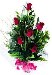 Adana güvenli kaliteli hızlı çiçek  5 adet kirmizi gül buketi hediye ürünü