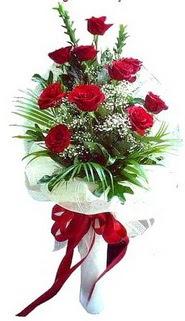 Adana ucuz çiçek gönder  10 adet kirmizi gül buketi demeti