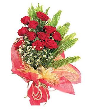 Adana İnternetten çiçek siparişi  11 adet kırmızı güllerden buket modeli