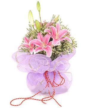 3 dal kazablanka görsel buketi  Adana internetten çiçek satışı