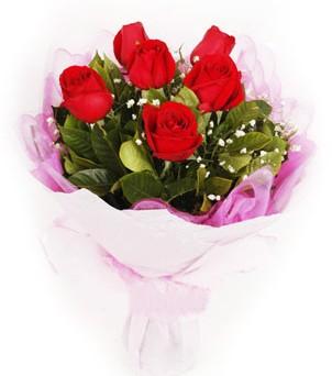 Adana hediye sevgilime hediye çiçek  kırmızı 6 adet gülden buket