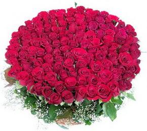 Adana online çiçekçi , çiçek siparişi  100 adet kırmızı gülden görsel buket