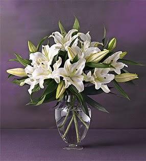 Adana İnternetten çiçek siparişi  4 dal cazablanca vazo çiçeği