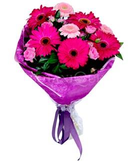 Adana çiçek siparişi sitesi  karışık gerbera çiçeği buketi