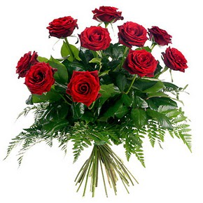 Adana çiçek gönderme  10 adet kırmızı gülden buket