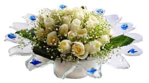 Adana çiçek online çiçek siparişi  11 adet Beyaz güller özel cam tanzim