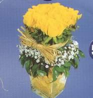 Adana anneler günü çiçek yolla  Cam vazoda 9 Sari gül