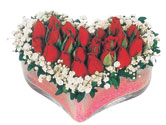Adana çiçekçi telefonları  mika kalpte kirmizi güller 9