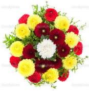 Adana çiçekçi mağazası  13 adet mevsim çiçeğinden görsel buket