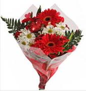 Mevsim çiçeklerinden görsel buket  Adana çiçekçiler