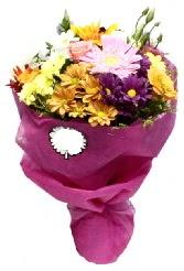 1 demet karışık görsel buket  Adana anneler günü çiçek yolla