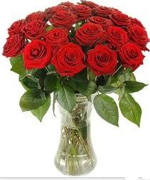 Adana çiçek mağazası , çiçekçi adresleri  Vazoda 15 adet kırmızı gül tanzimi