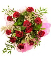 12 adet kırmızı gül buketi  Adana 14 şubat sevgililer günü çiçek