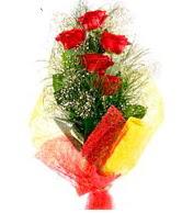 5 li kırmızı gül buketi  Adana internetten çiçek satışı