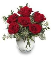 Vazo içerisinde 5 adet kırmızı gül  Adana çiçekçi mağazası