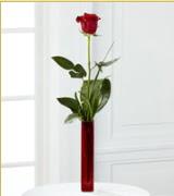 Vazo içerisinde 1 adet kırmızı gül  Adana internetten çiçek siparişi