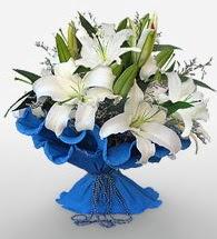 4 dal kazablanka çiçeğinden buket  Adana cicek , cicekci
