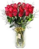 27 adet vazo içerisinde kırmızı gül  Adana İnternetten çiçek siparişi