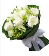 9 adet beyaz gül buketi  Adana çiçek siparişi sitesi