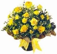 Adana çiçek , çiçekçi , çiçekçilik  Sari gül karanfil ve kir çiçekleri