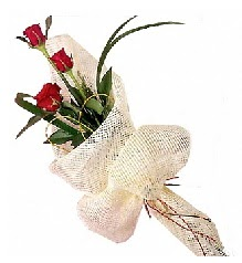 3 adet kırmızı gül buketi  Adana güvenli kaliteli hızlı çiçek