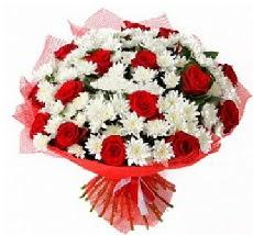 11 adet kırmızı gül ve 1 demet krizantem  Adana çiçek mağazası , çiçekçi adresleri