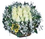 Adana çiçekçiler  Beyaz harika bir gül sepeti