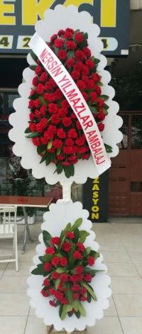Çift katlı düğün nikah çiçeği modeli  Adana hediye çiçek yolla
