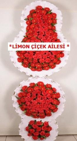 3 katlı kırmızı düğün açılış çiçeği  Adana çiçek gönderme