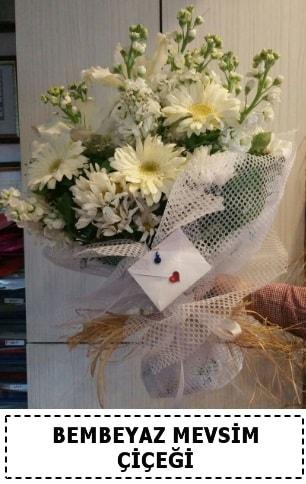 Bembeyaz görsel mevsim çiçek buketi  Adana çiçek yolla