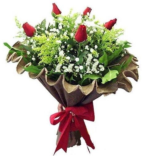 5 adet gülden buket  Adana çiçek gönderme sitemiz güvenlidir