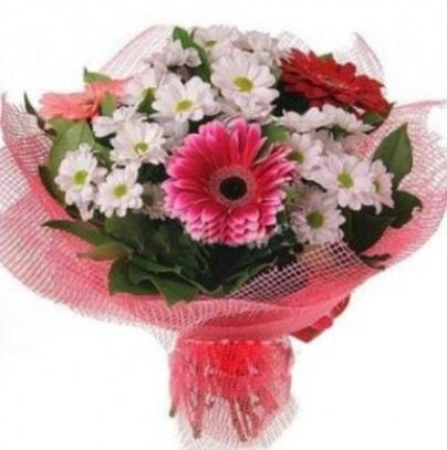 Gerbera ve kır çiçekleri buketi  Adana internetten çiçek siparişi
